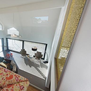 Dans le cadre des travaux de rénovation à Riedisheim, une mezzanine a été aménagée pour apporter plus de lumière.