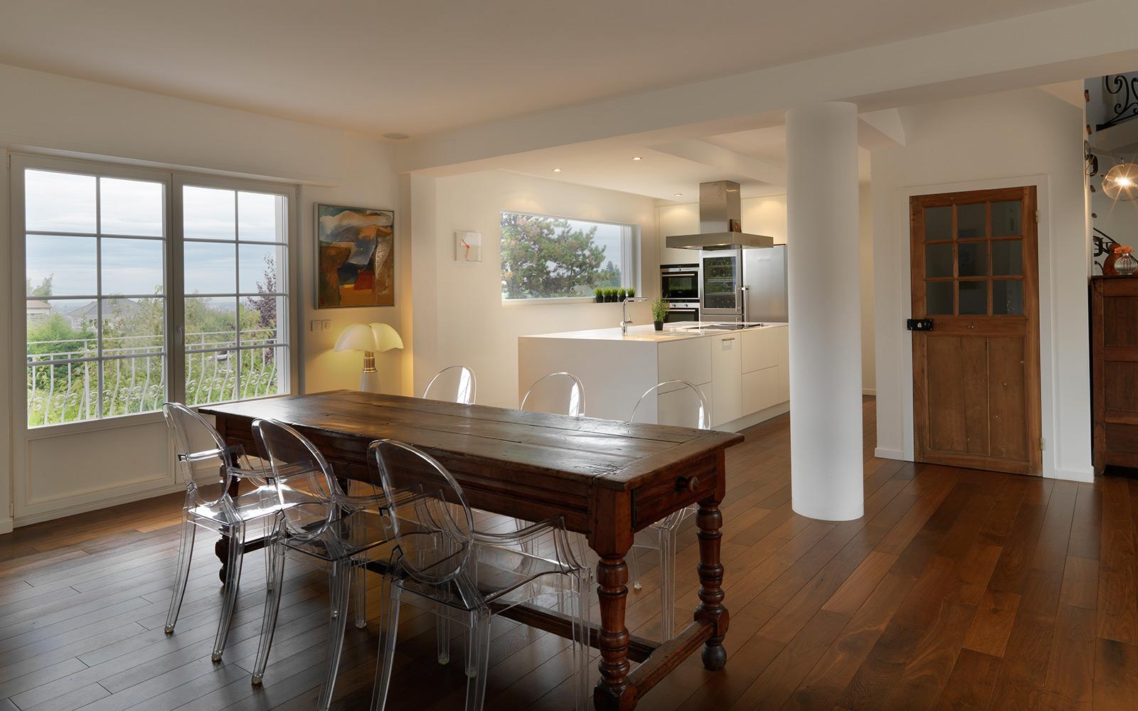 R novation d 39 une maison familiale brunstatt marc for Travaux cuisine ouverte