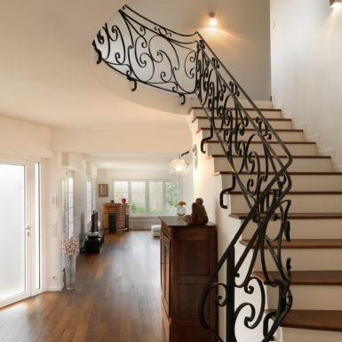 L'escalier de cette maison à Riedisheim a également fait l'objet de travaux de rénovation.